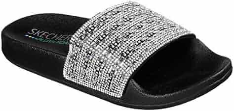 65ab3a79af99 Skechers Women s Pops up-Summer Rush-Rhinestone Shower Slide Sandal