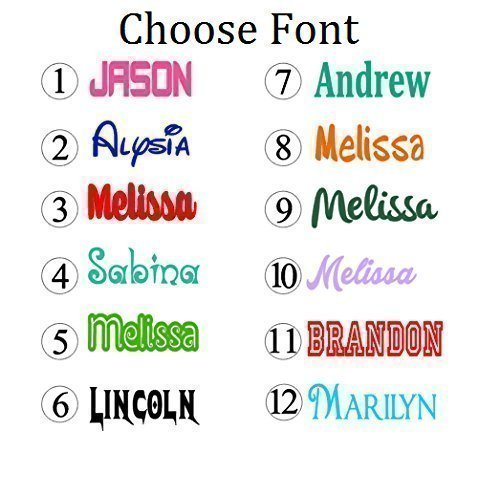 Personalized Name Decal Sticker – Gloss Vinyl for Yeti Cups, Windows, Laptops – Choose Font, Color, Size