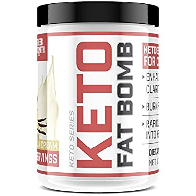 Keto Friendly Healthy Fat Supplement - GMO-Free MCT Oil Powder + Coconut Oil Powder + More - For Lasting Energy, Weight Loss, & Digestive Health - Keto FAT BOMB by Sheer Strength Labs, 44oz