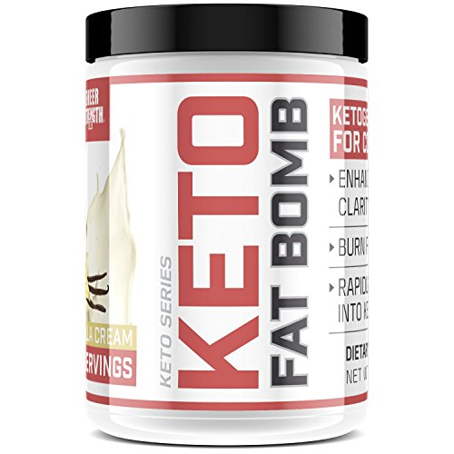 Premium MCT Oil Powder with L Theanine | Healthy Fats Formula Supports Rapid Weight Loss & All-Day Energy | Ketogenic & Paleo Diet Friendly - Keto Fat Bomb, 44oz from Sheer Strength Labs (Fat Loss Support Formula)