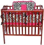 Baby Doll Bedding Zebra Minky Cradle Bedding Set, Pink