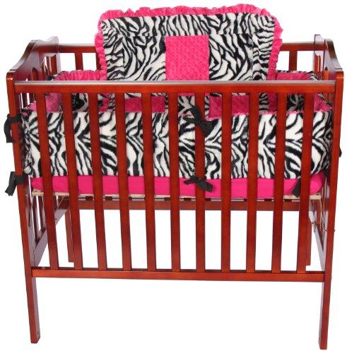 Baby Doll Bedding  Zebra Minky Cradle Bedding Set, Pink by BabyDoll Bedding