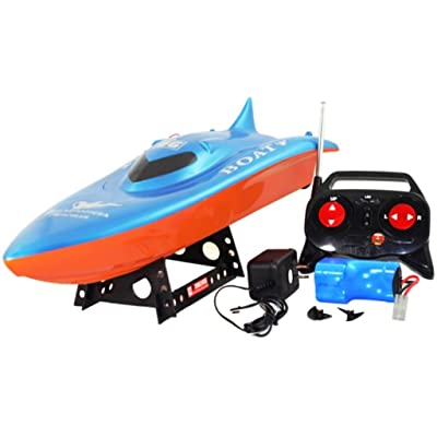 """SYMA 22"""" Blazingly Fast Balaenoptera Musculus Racing RC Boat: Toys & Games"""