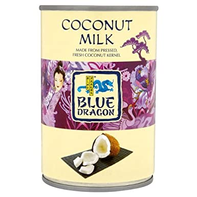 Blue Dragon Leche de Coco 400ml (Pack de 6 x 400 ml)