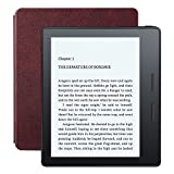 Kindle Oasis E-reader with Leather Charging Cover - Merlot, 6
