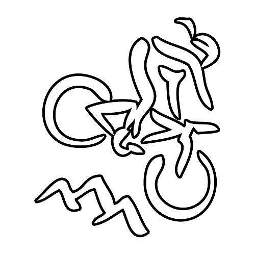 Mountain Biker Girl Vinyl Decal