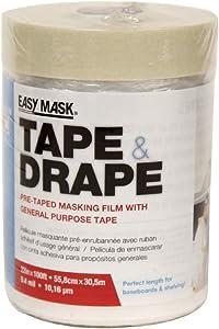Trimaco 71020/12 Easy Mask Tape & Drape, Gen Purpose Tape 22-inch X 100-ft