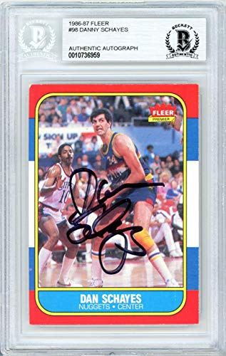 - Dan Schayes Autographed 1986 Fleer Card #98 Denver Nuggets Beckett BAS #10736959 - Beckett Authentication