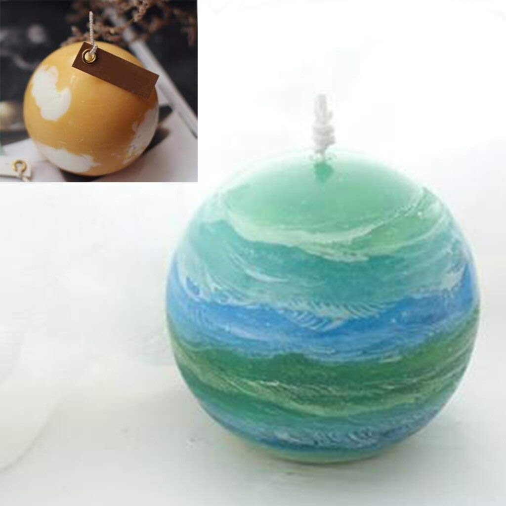Ball Candle Soap Molds High Temperature Resistance Transparent Sphere Ball Shape Plastic Candle Making Mold Soap Mould Clay Art Crafts Making Tools