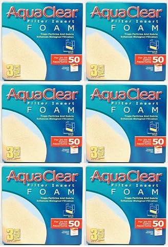 Aqua Clear 50 (200) Foam Insert 3pk Media x 6pk