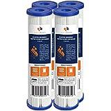 "Aquaboon 4-Pack of 5 Micron Pleated Sediment Water Filter Cartridge 10""x2.5"" Standard Size"