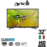 "ARIELLI 32DN6T2S TV 32"" Led HD Ready Smart TV DVB/T2 Garanzia Italia"