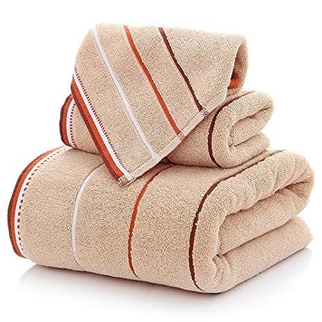 BB.er Juego de Toallas de baño Grandes de algodón para Aumentar el Juego de Toallas absorbentes de Pelusa, café: Amazon.es: Hogar