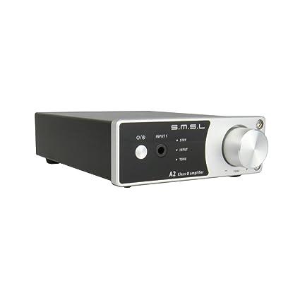 SMSL A2 HiFi Audio Estéreo Receptor Class D Amplificador con subwoofer 40 Wx2 Negro