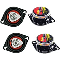 4) New BOSS CH3220 3.5 2-Way 280W Car Audio Coaxial Speakers Red Stereo 4 Ohm