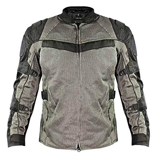 (Xelement XS8162 'All Season' Men's Black/Grey Tri-Tex/Mesh Jacket - Medium)