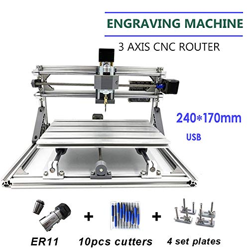3 AIXS CNC 2417 Mill Router USB DIY Desktop Metal Engraver PCB Milling Machine from TFCFL