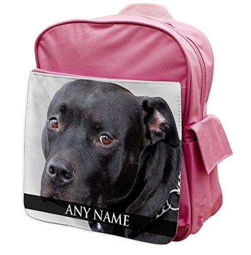 personalisierbar Staffordshire Bull Terrier Animal Pink Rucksack Rucksack 296