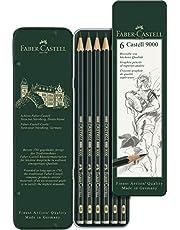 Faber-Castell AG119063 Castell 9000 Graphite Pencil, (6-Pieces)