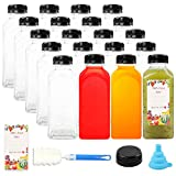 20pcs Empty PET Plastic Juice Bottles 12oz Reusable