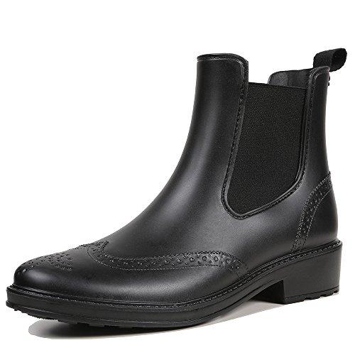 Black Winter Shorty Anti Waterproof Womens Boot slip STELLE Rain Snow Ladies' nfqvxZ07