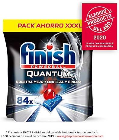 Finish Quantum Ultimate Detergente para Lavavajillas 84 pastillas ...