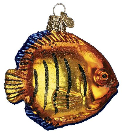 Old World Christmas Flame Angel Fish ()