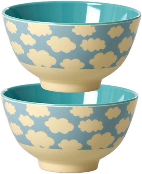 motivo: nuvole colore: blu Rice Contenitore per il pranzo con divisori