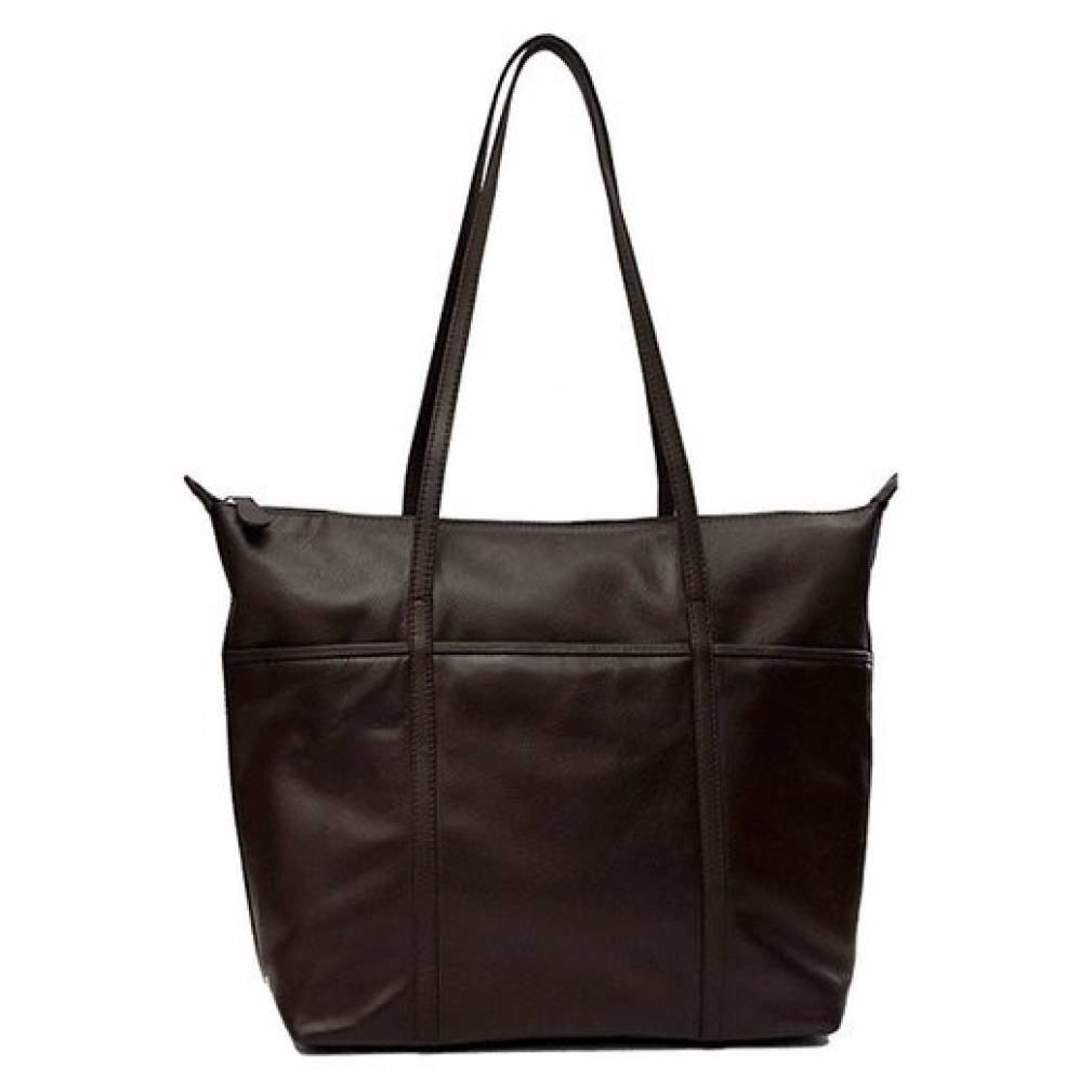 ili Leather Tote Handbag (Brown)