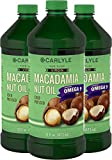 Carlyle Macadamia Nut Oil 3 Pack 16oz Cold Pressed
