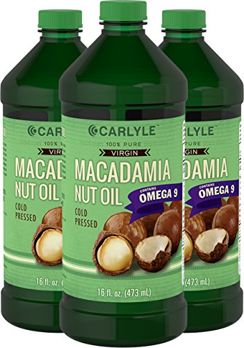 Carlyle Macadamia Nut Oil 3 Pack 16oz Cold Pressed by Carlyle