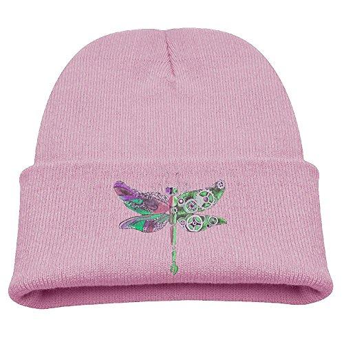 Dragonfly Dream Boys Winter Warm Beanie Skull (Pink Dragonfly Dreams)