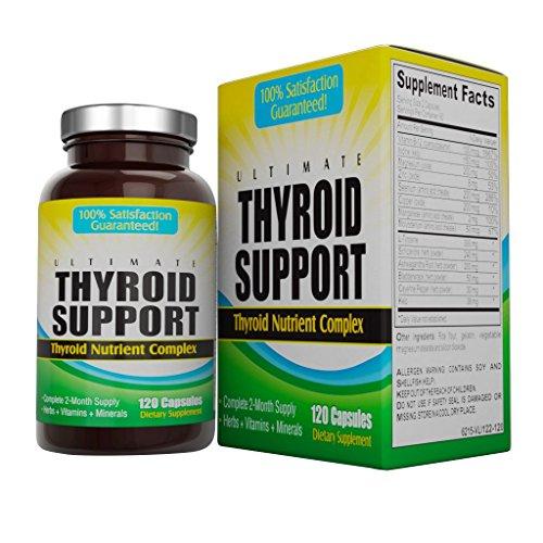 Supplément de soutien thyroïde ultime (approvisionnement de 2 mois)