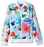 adidas Originals Tops Big Girls' Supergirl Track, Floral Multi/White, Medium