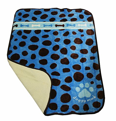 Doggy Blankets - Dots Blue