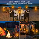 "EOYIZW Solar Torch Light with Flickering Flame, 43"" 2 Pack Upgraded Flames Torches Lights Outdoor Landscape Decor Lighting Dusk to Dawn Auto On/Off Security Torch Lights for Patio Driveway"
