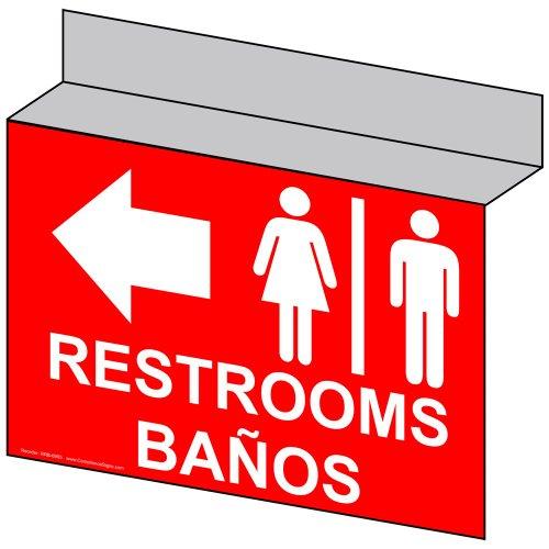 ComplianceSigns Aluminum Restroom Public / Private Ceilin...
