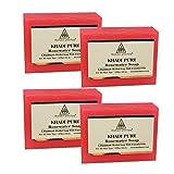 Khadi Pure Herbal Rose Water Soap – 125g (Set of 4)