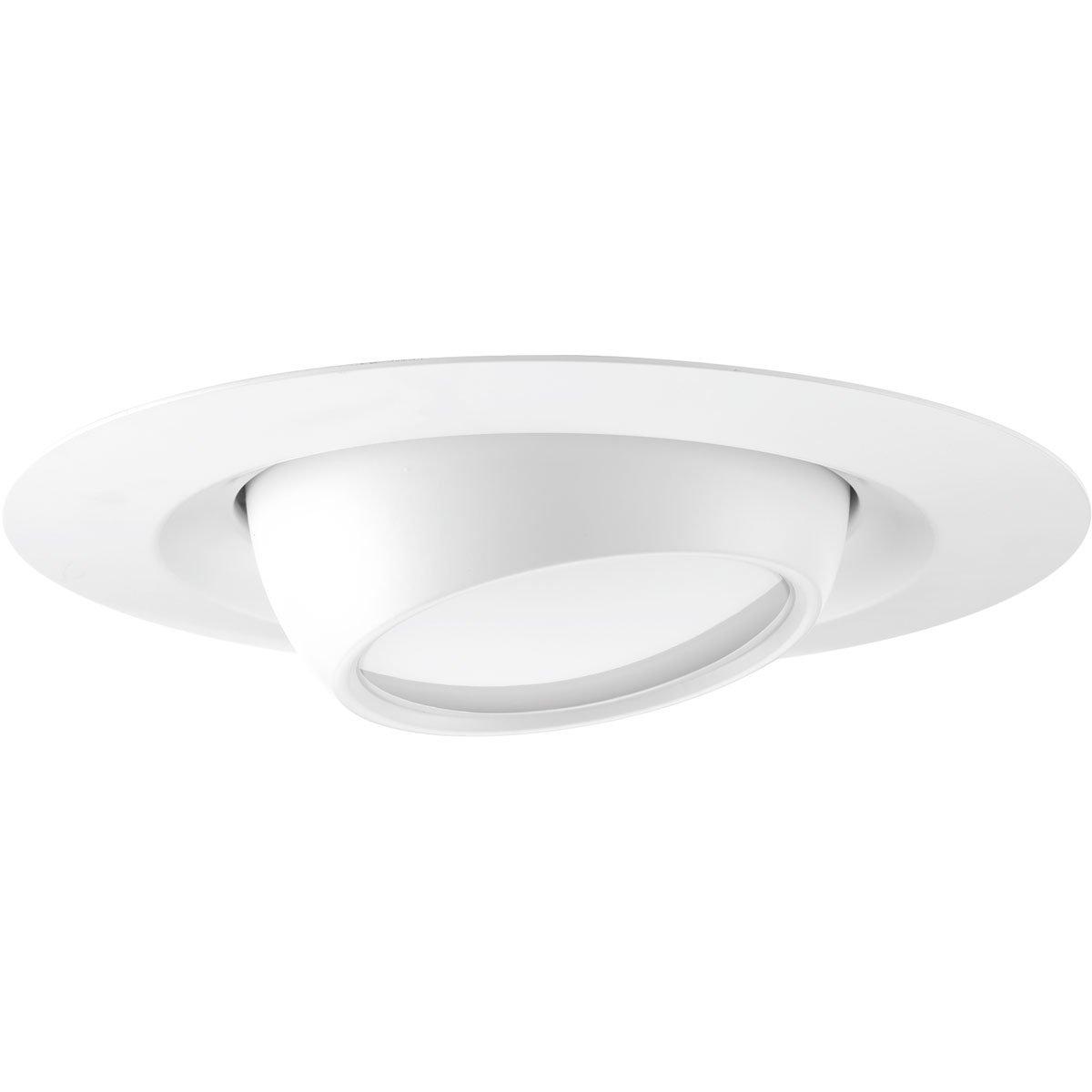 Progress Lighting P8076-28-30K One-Light LED Recessed Trim, Satin White
