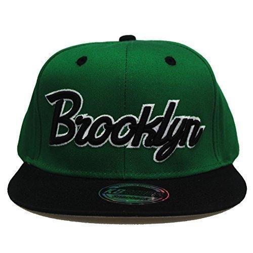 Gorra Negro Kelly Plana Retro Brooklyn Verde Snapback Visera Property State Béisbol vXfBqf
