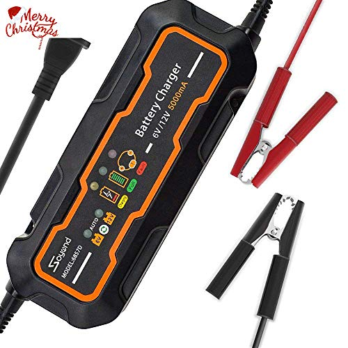 3 Charger Stage (soyond 6V/12V 5 Amp Smart Car Battery Charger and maintainer 5000mA)