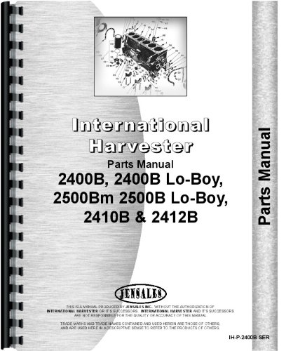 International Harvester 2400B Industrial Tractor Parts Manual  Chassis