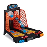 Relaxdays Basketball Table Game, Fun Tabletop Game, Ages 3 & Up, HWD 22.2 x 28 x 21 cm