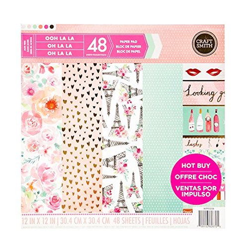 Craft Smith LOOKING GOOD Paper Pad 48 Printed Sheets 12 x 12 Scrapbook -