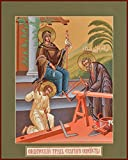 The Labor of the Holy Family Traditional Panel Russian Orthodox icon