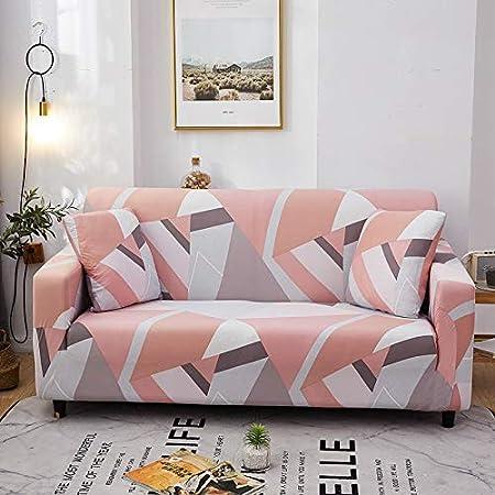 PPMP Sala de Estar geométrica Todo Incluido Funda de sofá Moderna sección elástica Funda de sofá de Esquina Funda de sofá A19 3 plazas