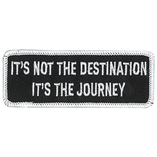 Hot Leathers, It's NOT the DESTINATION, It's The JOURNEY, Iron-On / Saw-On Rayon PATCH - 4