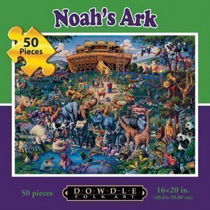 Dowdle Folk Art Noah's Ark 50pc 16x20 Puzzles