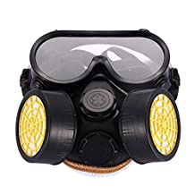 TTnight Halloween costume Mask Industrial Gas Chemical Anti-Dust Paint Respirator Mask Glasses Goggles Set