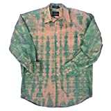 Green Tie Dye Button Up Shirt - L